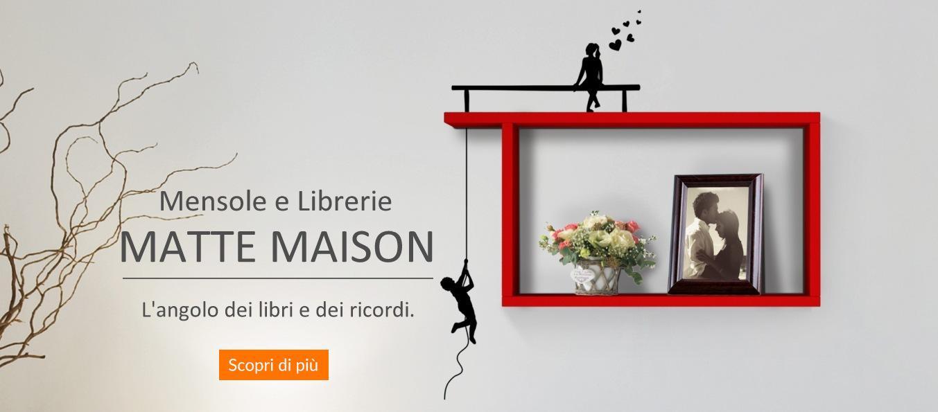 promozione mensole e librerie Matte Maison