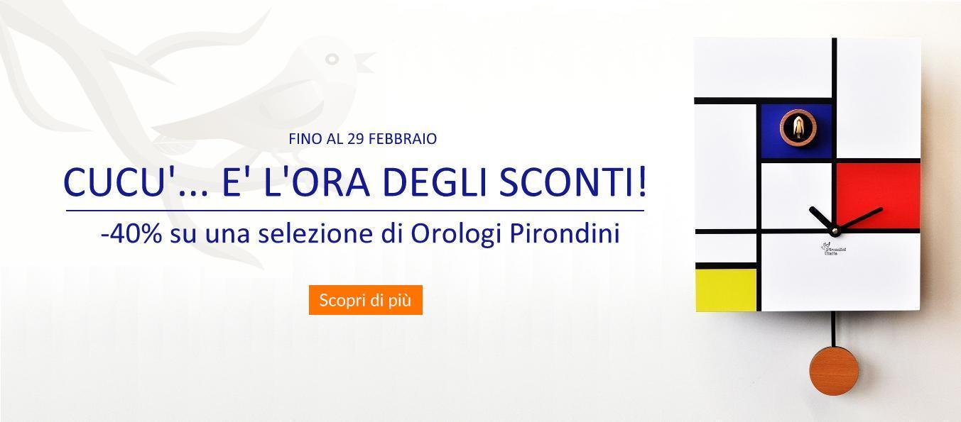promozione sconto 40% orologi cucù Pirondini