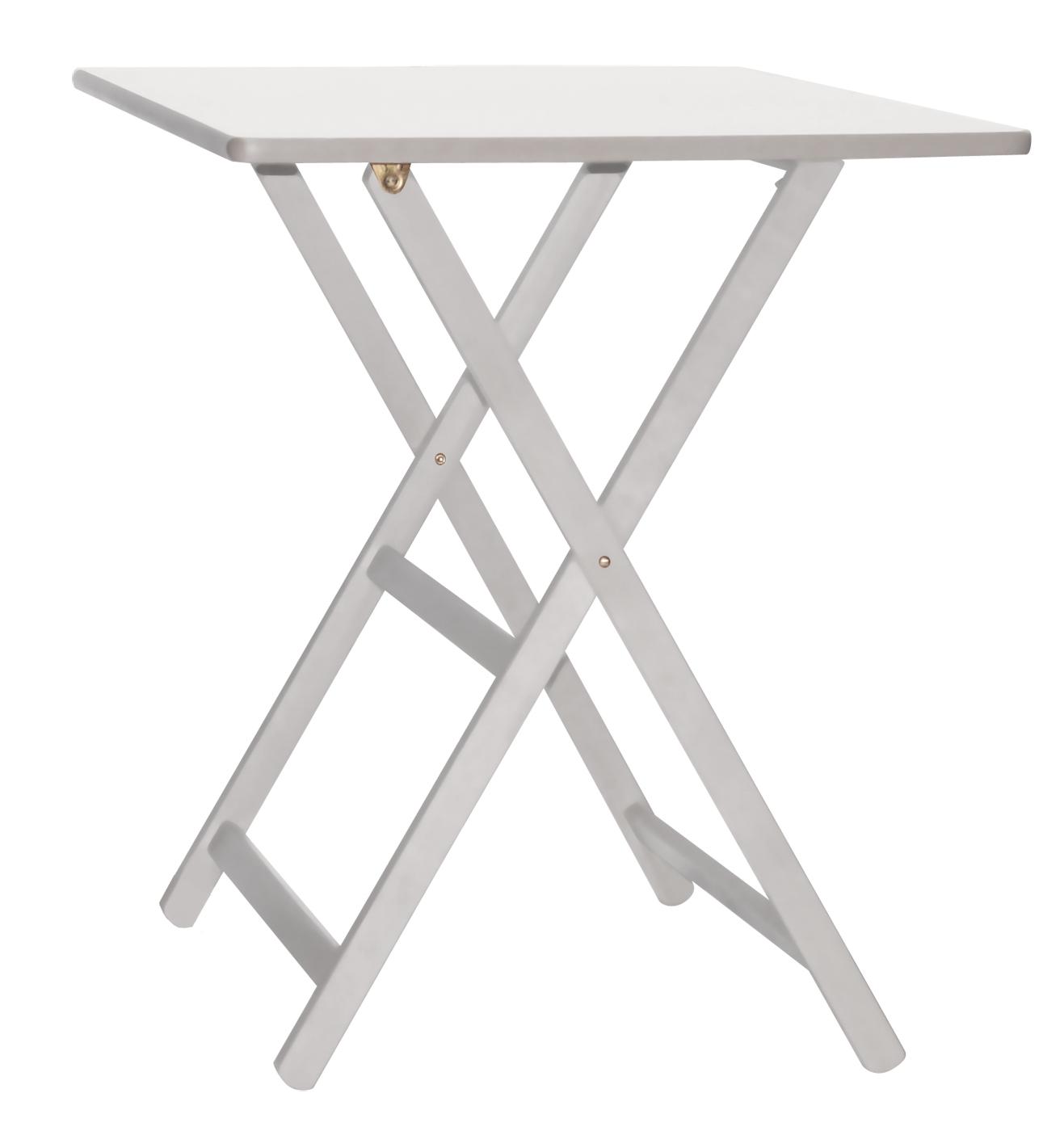 Tavolo Pieghevole da giardino in legno Maison cm 60x80 bianco o wengè ...