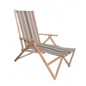 """""""Positano"""" sedia a sdraio in legno 2 posizioni con prolunga naturale  ITALIADOC"""