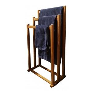 Portasalviette 3 barre in legno noce  ITALIADOC