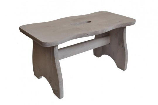 Sgabellino in legno di pino tortora tortora/grigio ITALIADOC