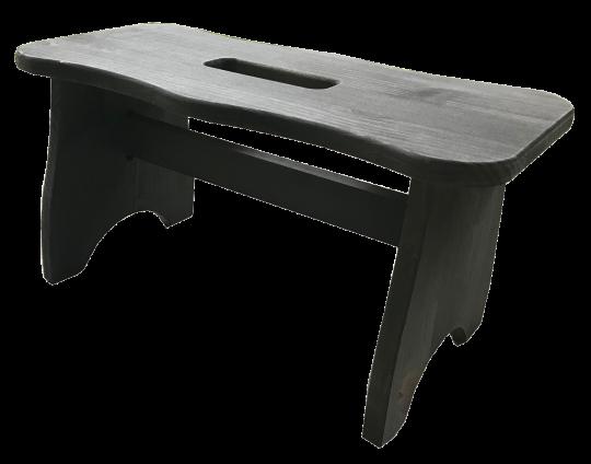 Sgabellino in legno di pino grigio scuro grigio scuro/grigio chiaro ITALIADOC