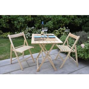 """Promo set giardino tavolo Price + 4 sedie """"Happy Hour"""" in legno naturale  ITALIADOC"""