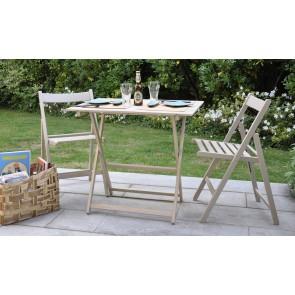 """Promo set giardino tavolo Price + 4 sedie """"Happy Hour"""" in legno tortora  ITALIADOC"""