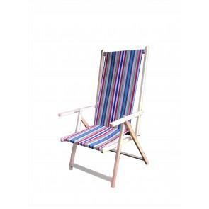"""""""Positano"""" sedia a sdraio 2 posizioni in legno naturale  ITALIADOC"""