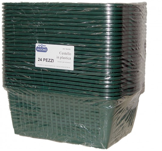 Cestello in plastica idonei per alimenti 1 pezzo verde ITALIADOC