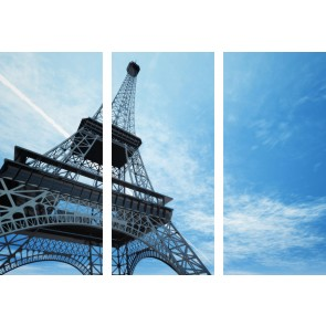 Quadro Canvas Torre Eiffel 3 pezzi  Homemania