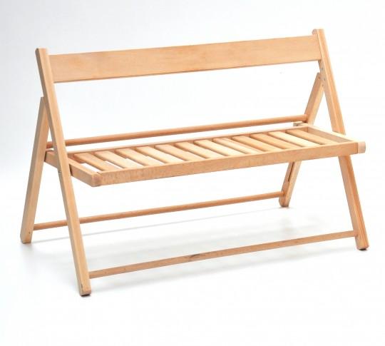 Panchinetta pieghevole bimbo in legno naturale naturale VALDOMO