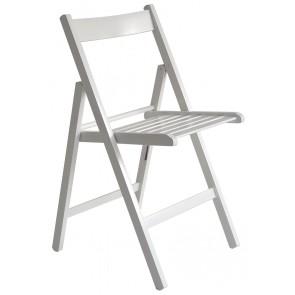 """Happy Hour"" sedia pieghevole listellare bianca  ITALIADOC"