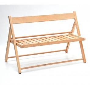 Panchinetta pieghevole bimbo in legno naturale  VALDOMO