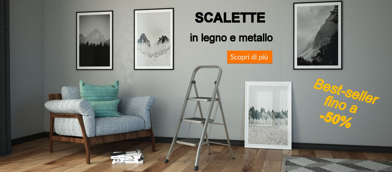 Scale in legno e metallo
