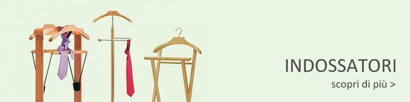 indossatori, servo muto, in legno da camera