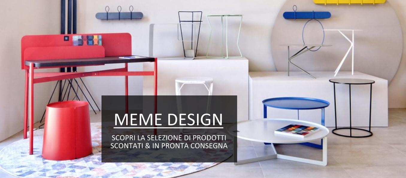 meme design promozioni sui prodotti in pronta consegna